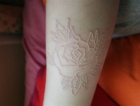 white roses tattoos how much white ink tattoos cost white ink tattoos center