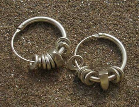 Silver Earrings Uk Handmade - handmade silver hoop earrings love2have in the uk