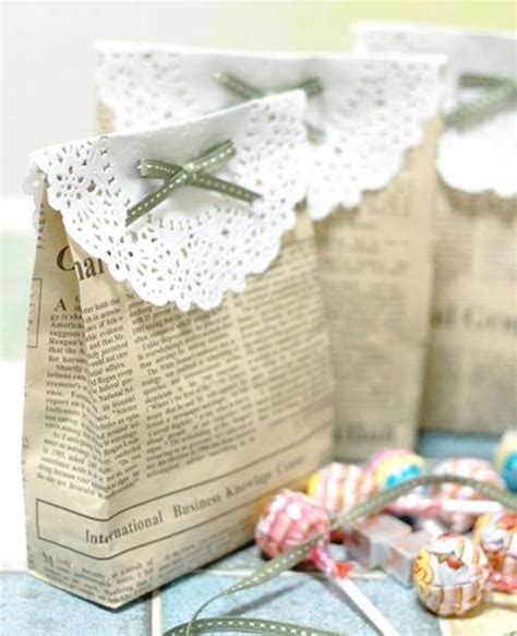 Handmade Favors - diy vintage wedding favors handmade vintage gift bag