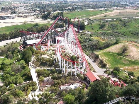 six flags magic mountain file six flags magic mountain viper and x2 from sky tower