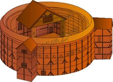The Globe Theatre Outline by Lesson Zone Nz Buildings