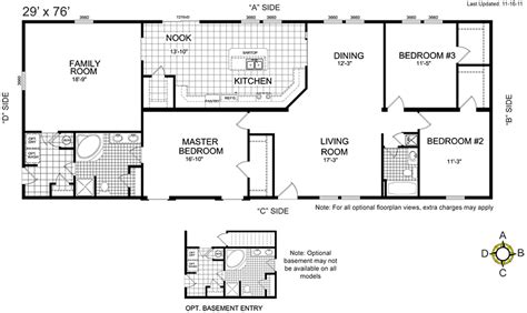 floor plan for homes buccaneer manufactured homes floor plans modern modular home