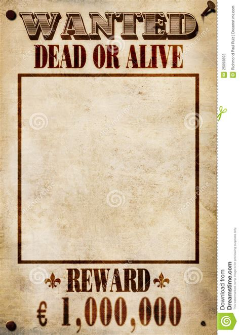 reward poster template wanted poster reward stock illustration image