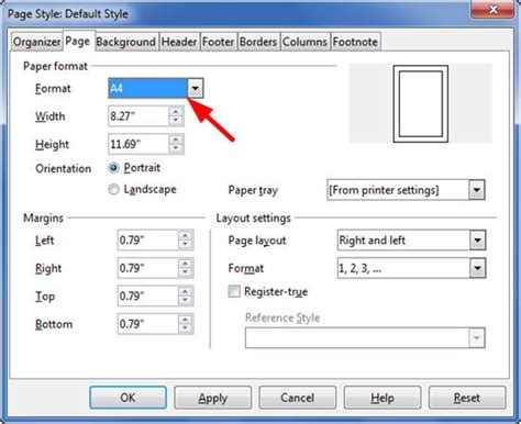 libreoffice landscape layout how to change paper size in libreoffice writer stonewall
