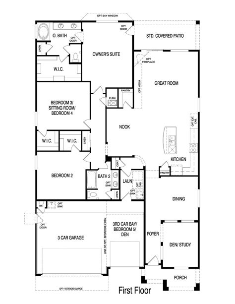 pulte homes floor plans pulte homes opal floor plan