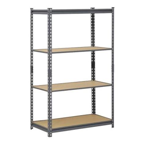 home depot metal shelves edsal 60 in h x 36 in w x 18 in d 4 shelf steel
