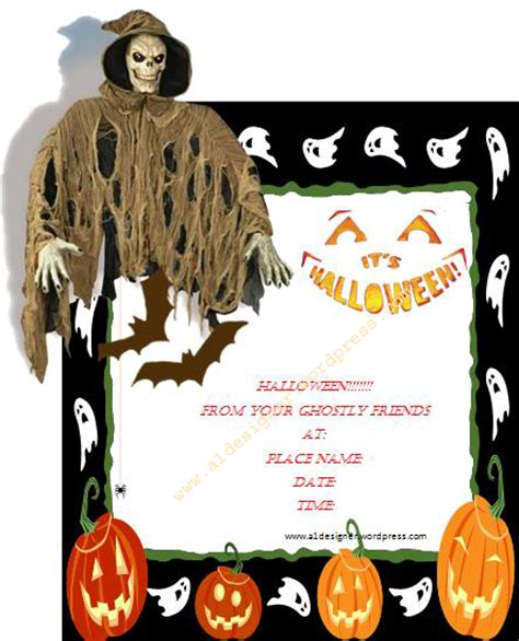 halloween invitation template graphics and templates