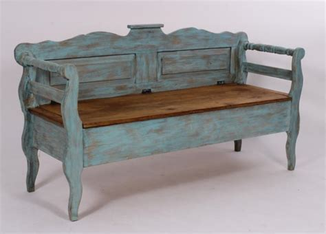 mexican bench mexican painted pine storage bench 20th
