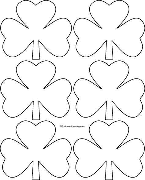 printable shamrock template six shamrocks template enchantedlearning