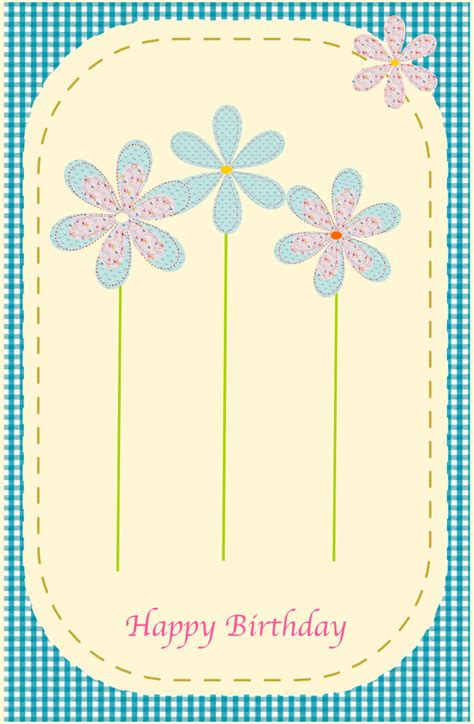free card printables free printable happy birthday card in sewing style