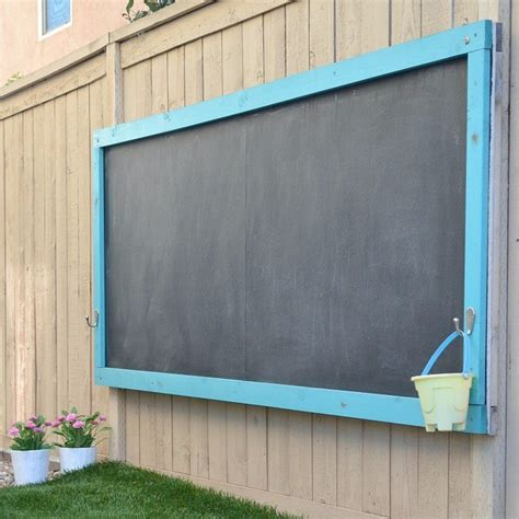 diy outdoor chalk paint diy outdoor chalkboard popsugar home