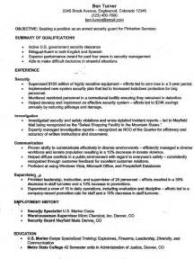 security officer qualifications resume resume ideas