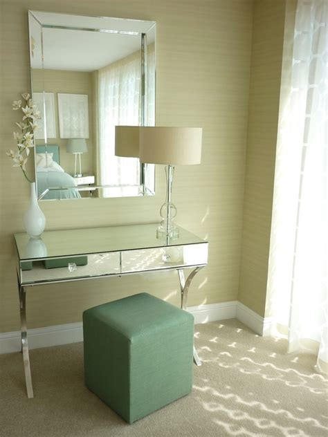 The Brick Vanity Table Marvelous Mirrored Vanity Table In Home Office Contemporary With White Brick Fireplace Next To