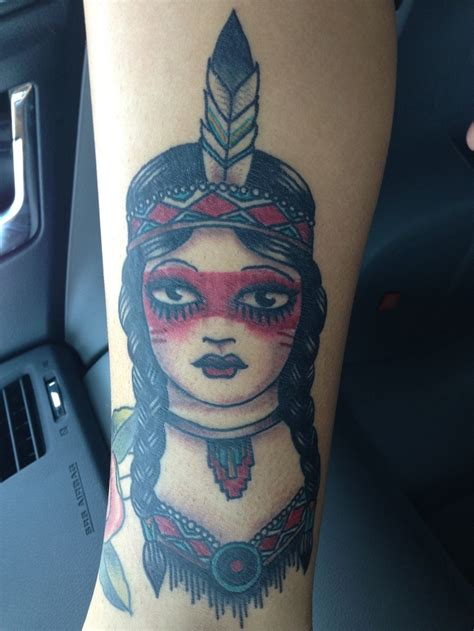 native american girl tattoo traditional american tattoos i