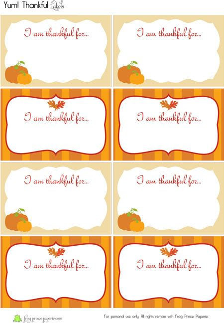 turkey thankful card template free 9 best images of table name tags printable for fall