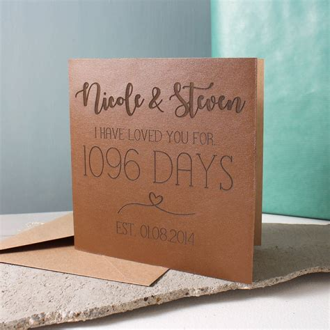 Wedding Anniversary Ideas Leather by Anniversary Leather Time Card By No Ordinary Gift Company