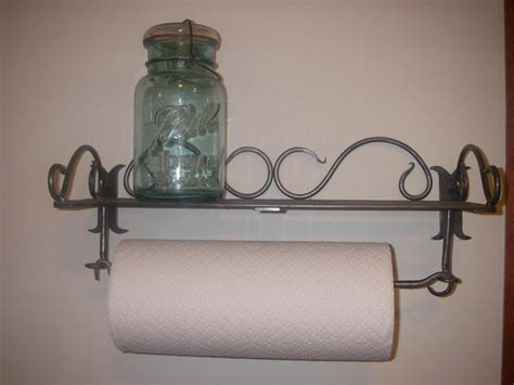 Wall Mounted Paper Towel Holder With Shelf by Bunkhouse Originals Kitchen Items