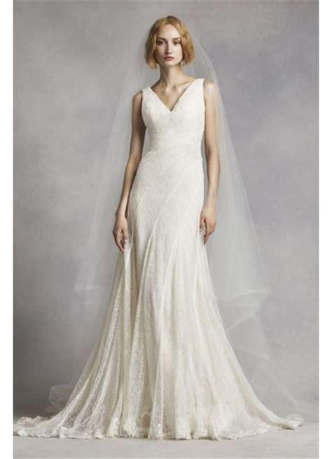 Wedding Dresses V Neck by White By Vera Wang V Neck And Lace Wedding Dress David S