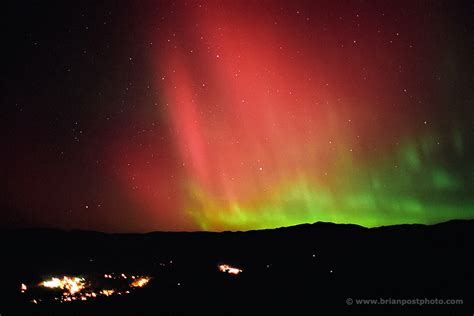 Northern Lights New Hshire by 2003 Borealis Brian Post Photography