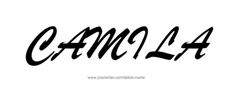 create name designs tattoos camila name designs