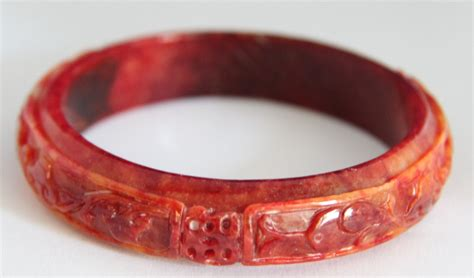 Extra Large Red Jade Bangle  M410