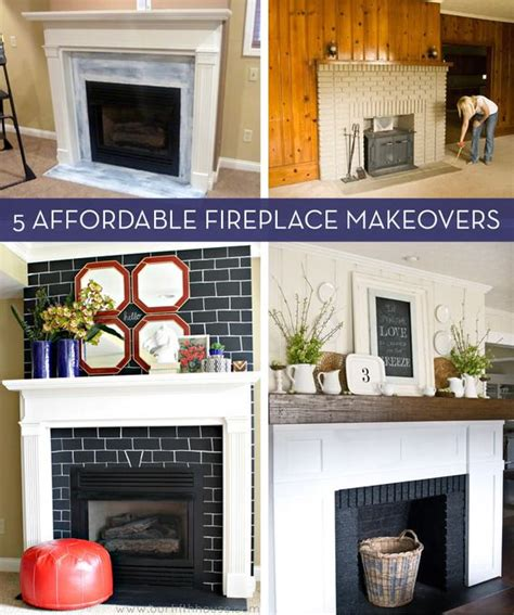 before and after fireplace makeovers before and after 5 budget friendly fireplace makeovers fireplace makeovers fireplaces and