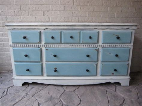 White Refinished Dresser by Custom Refinished Dresser White Provence Blue