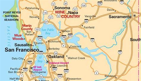 san francisco map of california related keywords suggestions for northern california