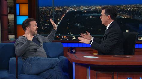 christian news the christian post atheist ricky gervais vs christian stephen colbert who