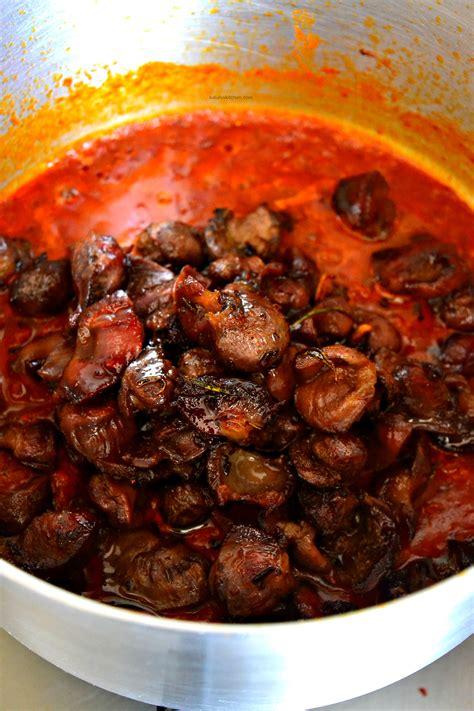 garlic turmeric fried gizzard