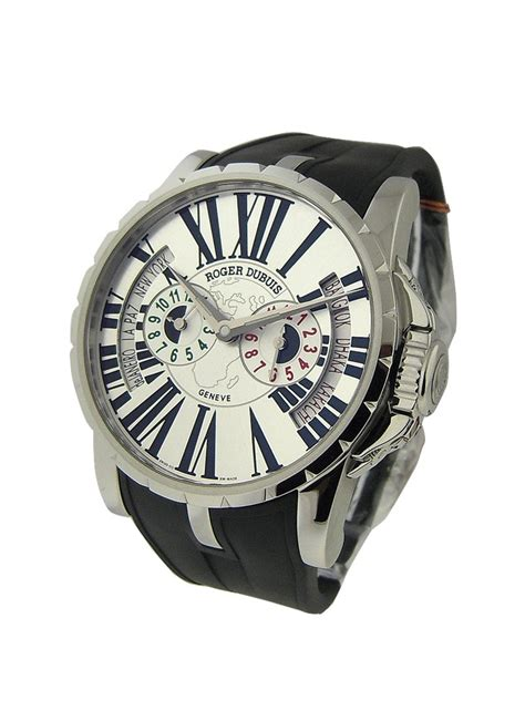 Roger Dubuis Excalibur World Time Silver ex45144893 7att 28 roger dubuis excalibur 45mm steel essential watches