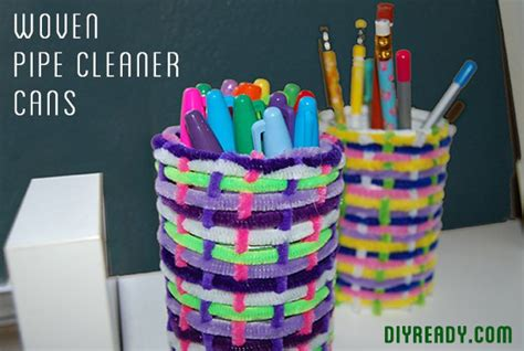 easy cheap crafts for easy cheap crafts woven pipe cleaner cans