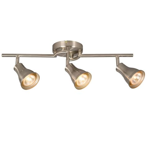 Home Depot Track Lights by Hton Bay 3 Light Brushed Nickel Track Light The Home