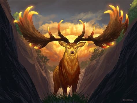 golden stag by johnnymorrow on deviantart