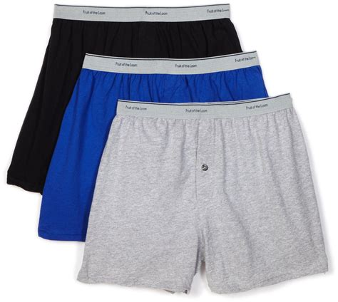 Fruit Of The Loom S 3 Pack Solid Knit Boxers