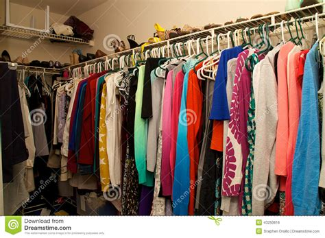 Sell Wardrobe by Inside A S Closet Stock Photo Image 43250616