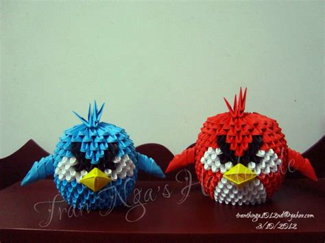 Origami Angry Birds - y107 new newhairstylesformen2014
