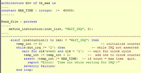 how to write test bench for vhdl code vhdl test bench for fpga asic verification vhdl test
