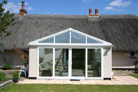 gabled conservatory extension kitchen extensions housetohome co uk gable conservatory img1 test valley windows