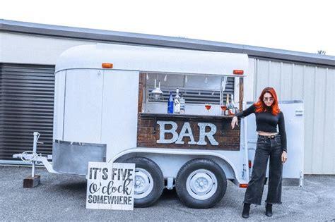 horse trailer turned   charming mobile bar home
