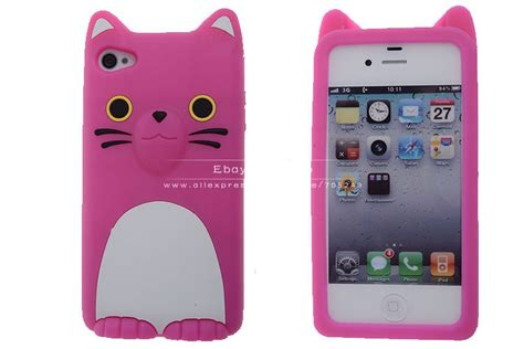 Hello 3d Soft For Iphone 5 Light Pink Free Stiker Antirad aliexpress buy 3d hello cat with ear soft silicone rubber skin back cover