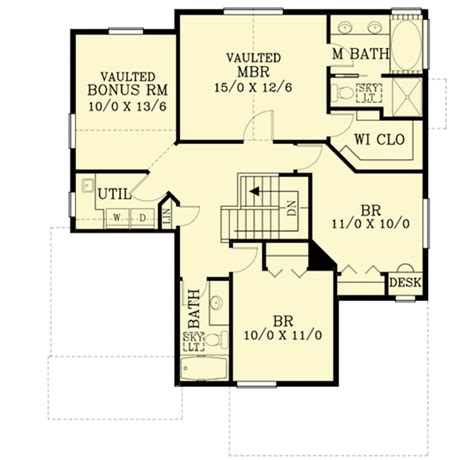 marvelous home plans for narrow lots 9 2 story narrow lot craftsman home with marvelous vaulted ceilings 2883j