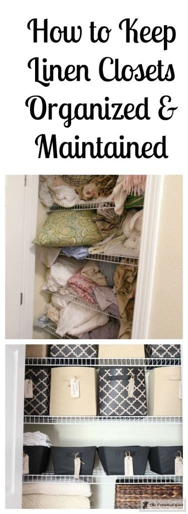 How To Keep Your Closet Organized by How To Keep Linen Closets Organized And Maintained The Crowned Goat