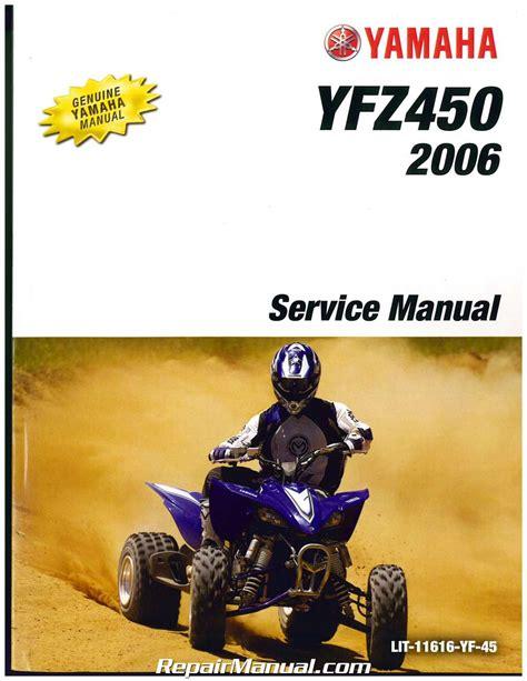 2004 2006 Yamaha Yfz450 Atv Service Repair Maintenance Manual