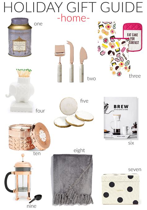 holiday gift guide home goods stylish sassy classy