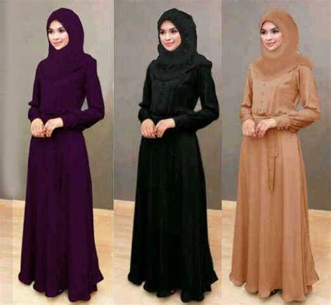 Baju Busana Muslim Gamis Syari Abu Silver Maxy No Pad Be jual baju muslim syari dewasa busui maxi diandra gamis