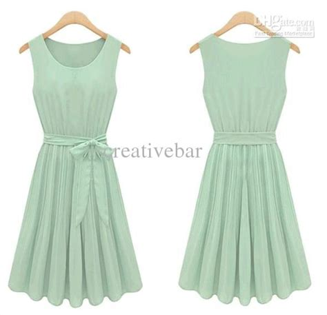 Mint Simple Casual Sale Promo At active vintage novelty mint green chiffon fashion casual brand sleeveless dress 20
