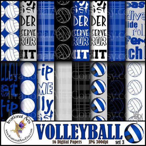 printable volleyball paper volleyball royal blue and black digital paper 16 jpg files
