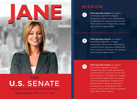 political election campaign flyer template  photoshop
