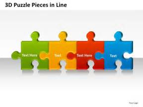 powerpoint puzzle pieces template 3d puzzle pieces in line powerpoint presentation templates